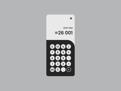 Daily UI - Calculator ux ui  ux webdesign design dailyuichallenge dailyui uidesign ui uiux calculator 004