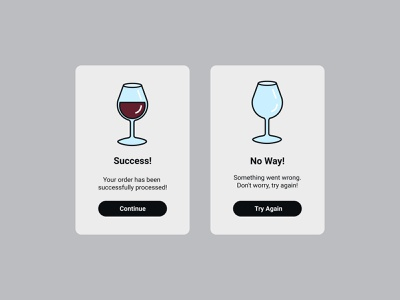 Daily UI - Flash Message success wine ux ui  ux webdesign design dailyuichallenge dailyui uidesign ui uiux flash messages flash message flash 011