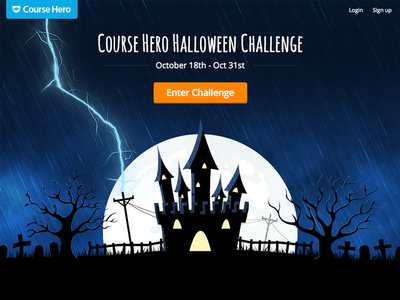 Course Hero Halloween Challenge course hero halloween challenge night spooky castle lightning