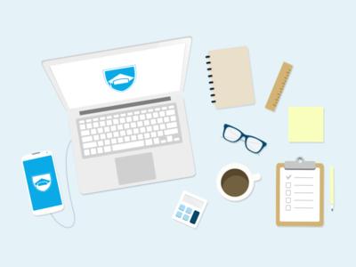 Homepage Desktop student desk course hero study