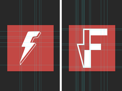 Flashcards App Logo mobile app logo grid lightning flashcards