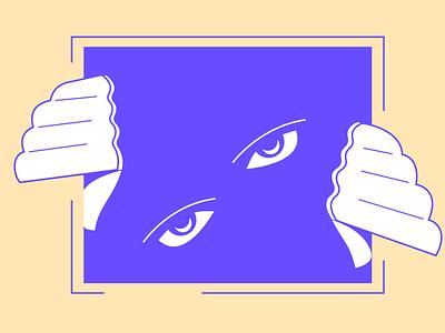 Scary eyes minimal hands idea weird scary design illustration illustrator experimental