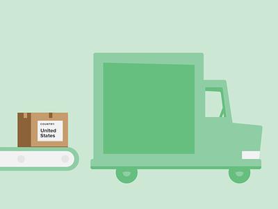 Delivery truck minimal design vector illustration illustrator delivery car
