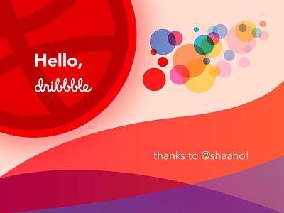 Hello Dribbble! font avenir drawing digital illustrator