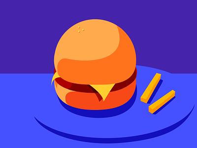 Burger Motif art design reading university illustrator experiment illustration