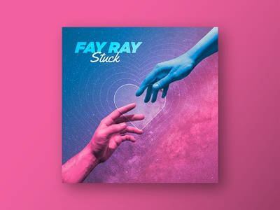 FAY RAY - Single Cover album cover fay ray space heart hand single album band