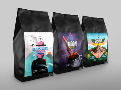 Crypto Coffee – Coffee Bag Packaging Design