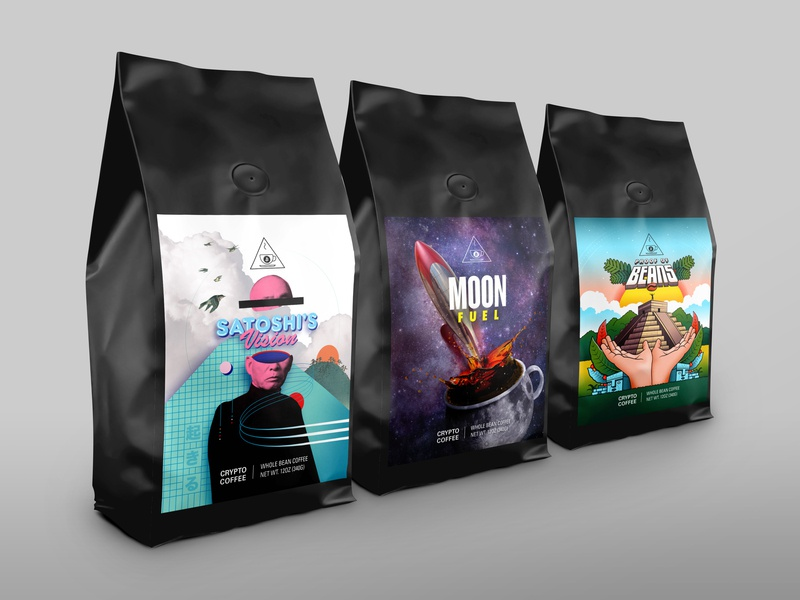 Crypto Coffee – Coffee Bag Packaging Design packaging design branding coffee bag coffee package design packaging