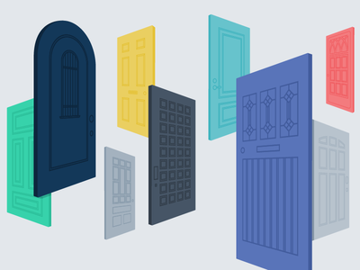 Closing the Accessibility Gap blog image accessibility doors illustration