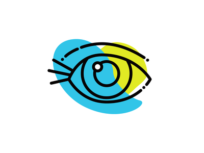 five senses - sight seeing sight eye colorblock line icon illustration senses