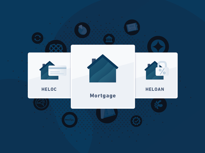 Blend expands to HELOC and HELOAN heloc mortgage icon design san francisco product fintech blend illustration