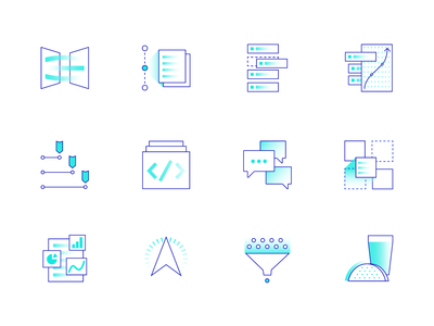Esper icons branding and identity branding two color website lineart government gradient icons