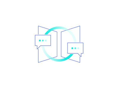 Esper illustration - stakeholder engagement gradient product identity branding govermnent two color line icon illustration