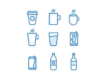 Drink Icons Set [WIP] icons stroke icons strokes free icon set