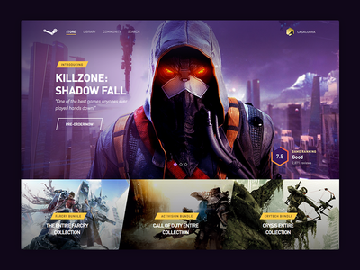 Steam [WIP] steam homepage games ps4 ps3 hero steam redesign