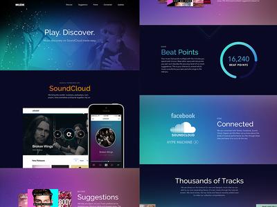 Musik App soundcloud music app gradient blur home landing