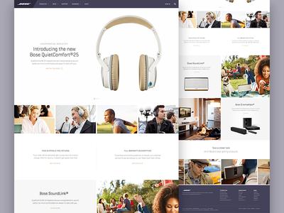 Bose Redesign bose landing page hero minimal product design redesign