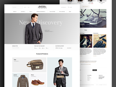 eCommerce... landing page theme opencart magento shopify shop homepage