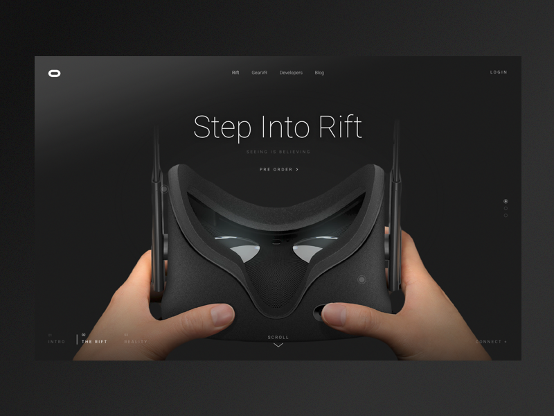 Oculus   step into dribbble