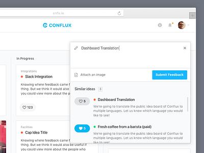 Conflux - Add Feedback form writing ui grid feedback add feedback
