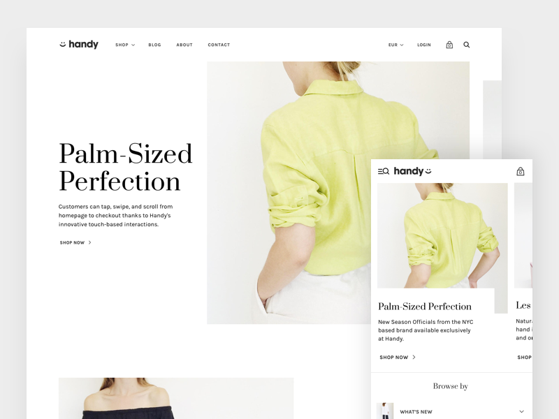 Handy - Mobile First Shopify Theme | Search by Muzli