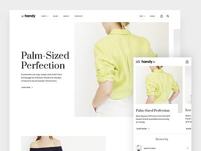 Handy - Mobile First Shopify Theme ux mobile theme shopify