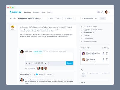 Feedback Details Overview Full conflux ideas managing public feedback votes feedback
