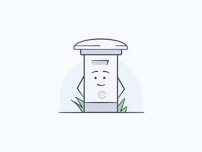 Conflux - Mailbox mascot cute feedback collection illustrator mailbox illustration