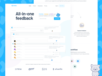 Conflux: Live Site app homepage illustration gatsby conflux landing page sass website