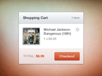 Shopping Cart shopping cart bag price button orange ecommerce