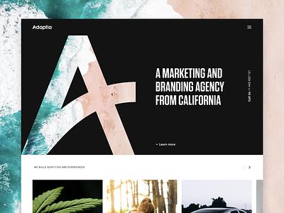 Adaptia   Marketing & Branding Agency branding design marketing california identity logo home landing agency