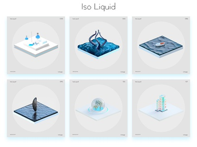 Iso Liquid iso liquid render ocean blue liquid water isometric illustration 3d 365 project isoliquid