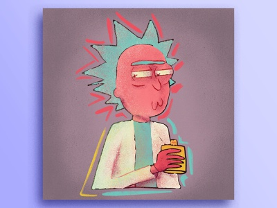 Rick Sanchez ipad ivi topp illustration rick and morty rick sanchez