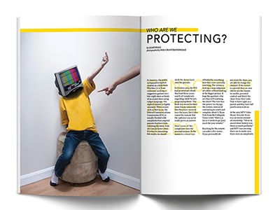 Censorship visual design print editorial