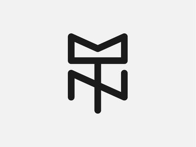 Totally Normal Logo music design line minimal dj branding logo