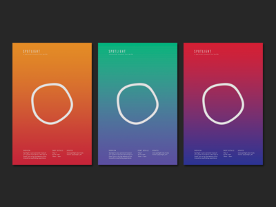 Spotlight Promo Posters identity minimal system design event posters