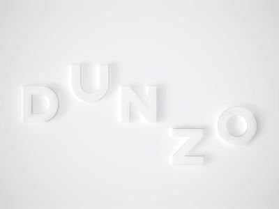 D U N Z O typography titles title sequence cinema 3d minimal clean design event branding