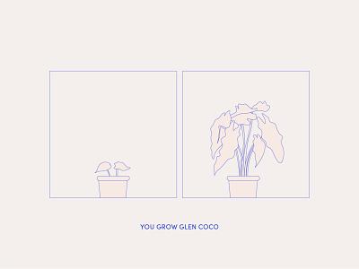 You Grown Glen Coco nature plants plant illustrator illustration clean minimal design