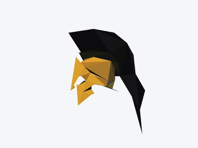 Spartan Low Poly Helm spartan 300 helm lowpoly