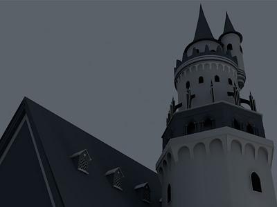 Beginning of a castle castle 3d modeling 3d