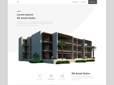Upcomming Residence in Mexico minimal design ui