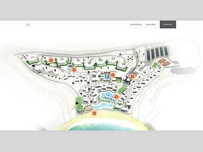 3D Sitemap rendering 3d interactive map ui design