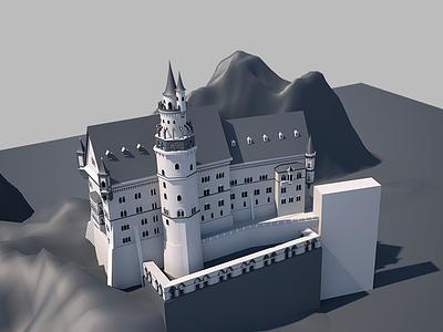 Castle v3 cinema4d model rendering design 3d