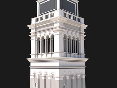 St Mark's Campanile italy venice design architecture cinema4d c4d 3d