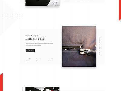 Fashion Concept fashion shapes design web ui