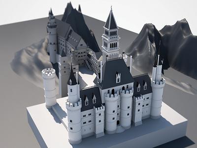 Castle - WIP architecture cinema 4d design medieval c4d 3d castle