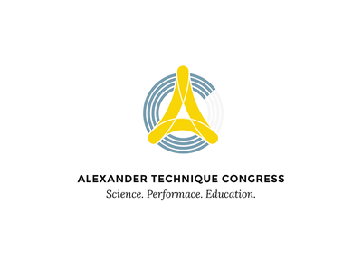 Alexander Technique Congress Logo blue yellow posture yoga design graphic logo