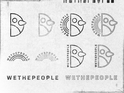 wethepeople Applications graphic the long lost disciple gara distressed texture rainbow bird applications typography logo