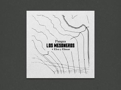 Custom Cartography and Cover Design for Los Mesoneros typography geography pangea cartography map artwork cover design the long lost disciple gara los mesoneros