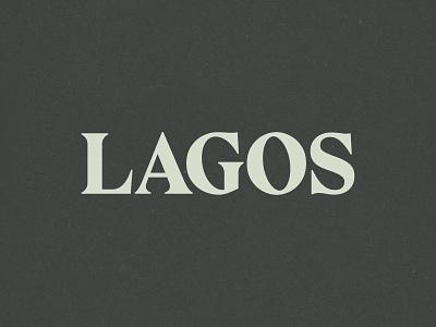 Lagos Branding lagos lettering typography branding logo